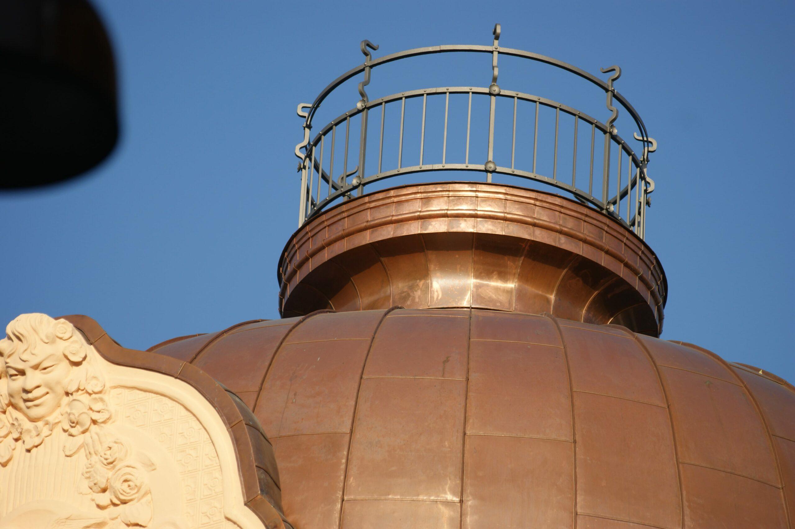 Copper work with railing metropolis