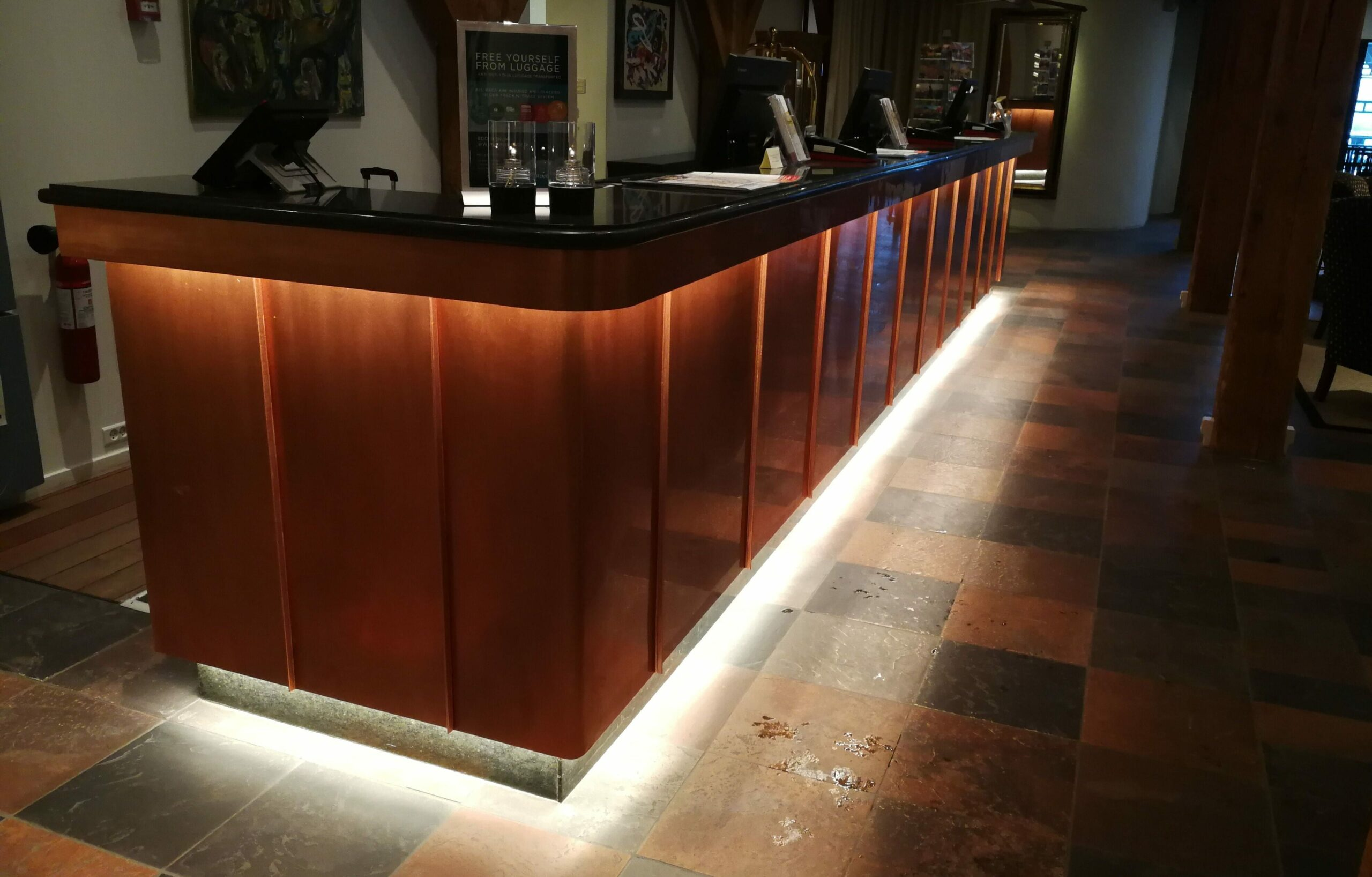 Reception with LED LIGHT