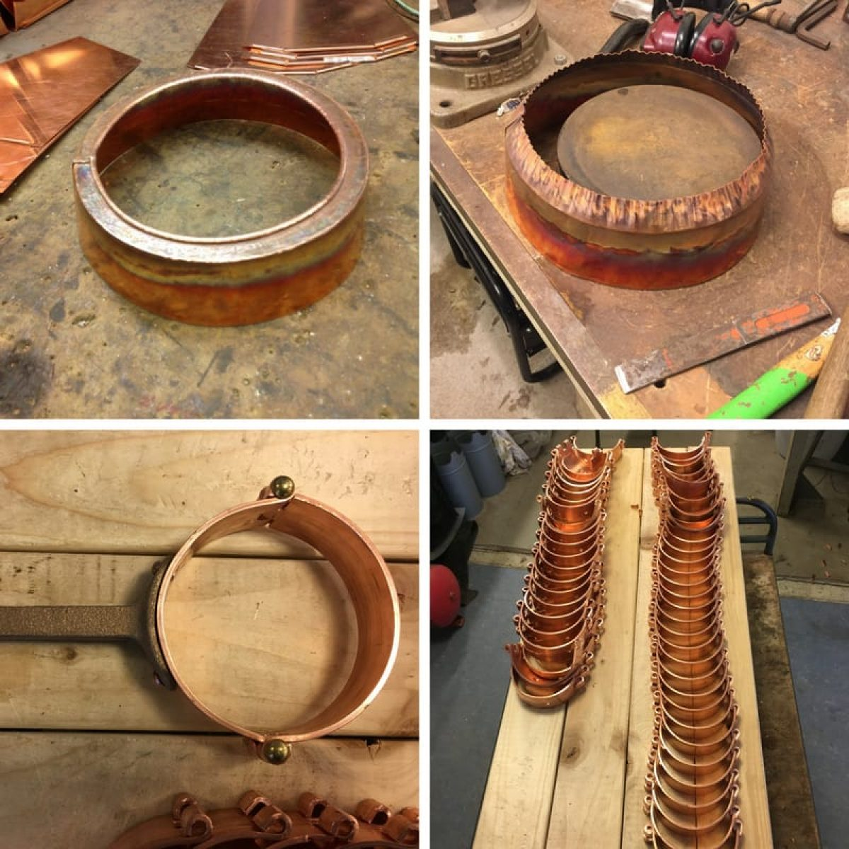 Copper window and hinge pins